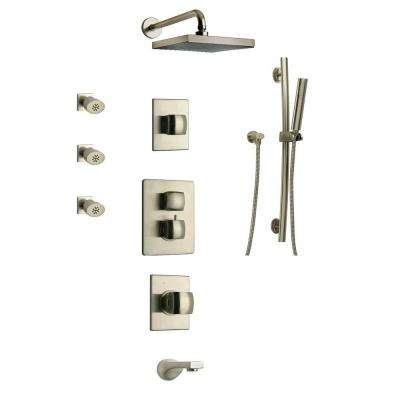 Lady Shower Combo 8 in Brushed Nickel