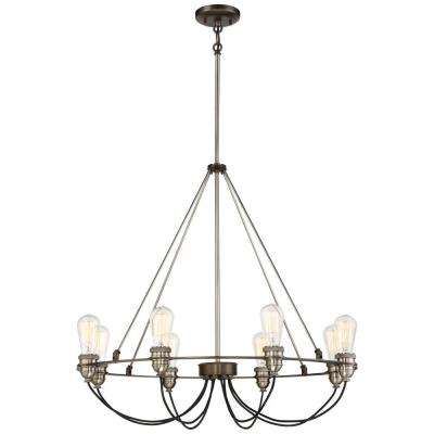 Uptown Edison 8-Light Harvard Court Bronze Chandelier