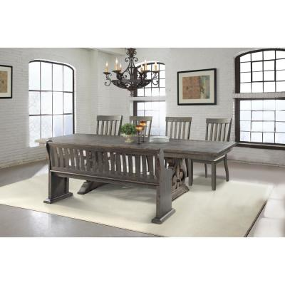 Stanford Dining 6-Piece Set-Table 4 Side Chairs and Pew Bench