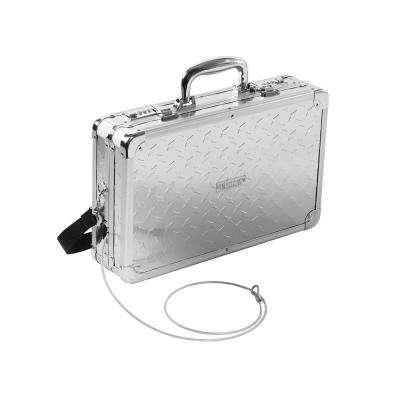Locking Gun Case w/Security Tether, Hard-Sided, Treadplate