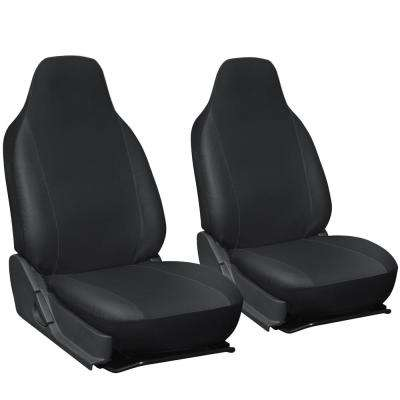 Polyurethane Seat Covers 21.5 in. L x 21 in. W x 31 in. H Seat Cover Set Black (2-Piece)