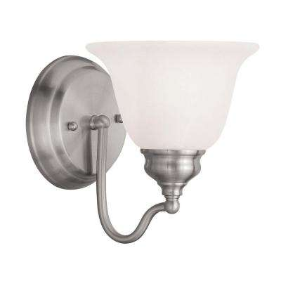 Providence 1-Light Brushed Nickel Incandescent Wall Vanity Light