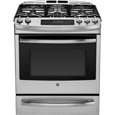 5.9 cu. ft. Dual Fuel Range with Self-Cleaning Convection Oven in Stainless Steel