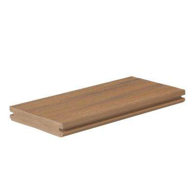 AZEK Vintage 1 in. x 5.5 in. x 1 ft. English Walnut PVC Deck Board Sample