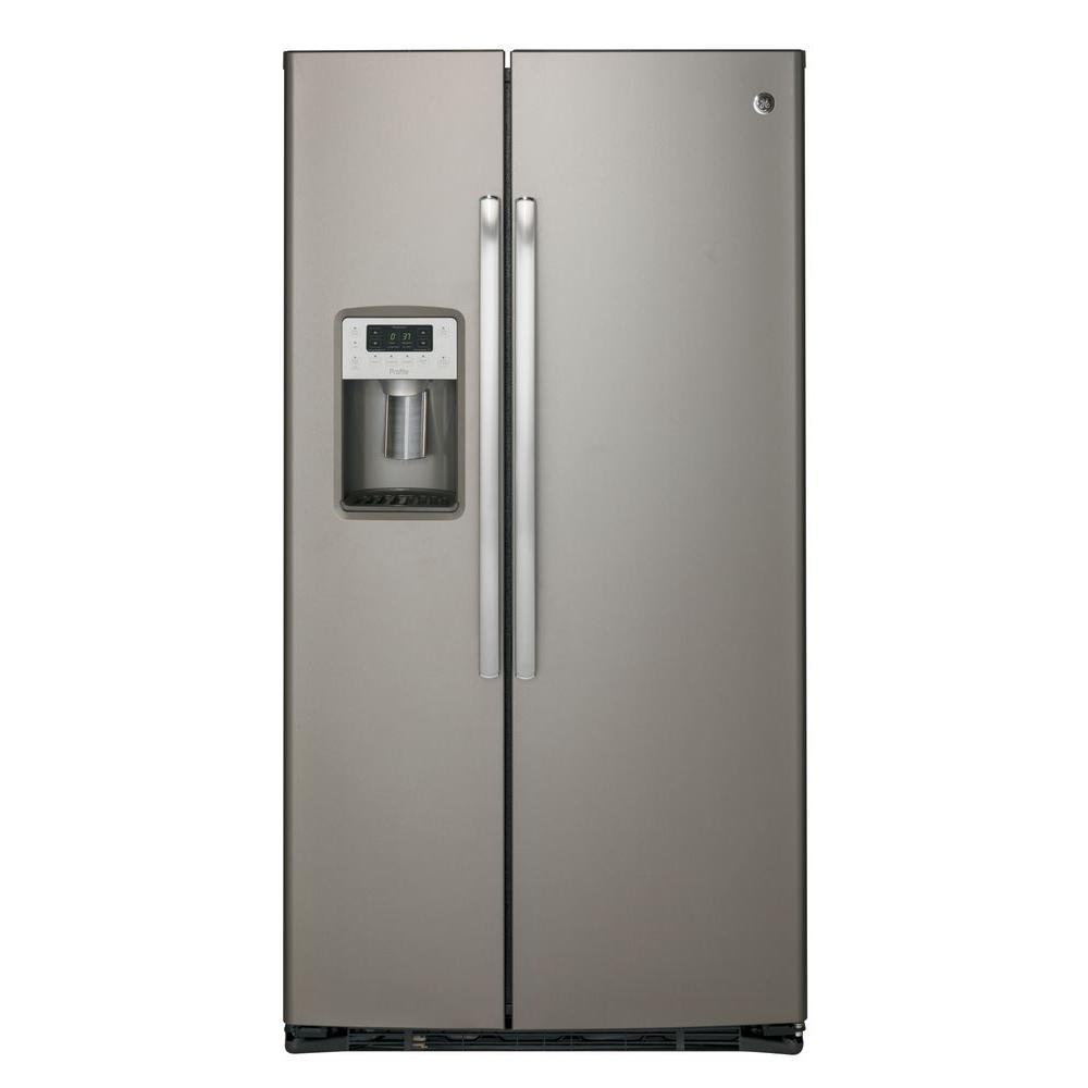 21.9 cu. ft. Side by Side Refrigerator in Slate, Counter Depth