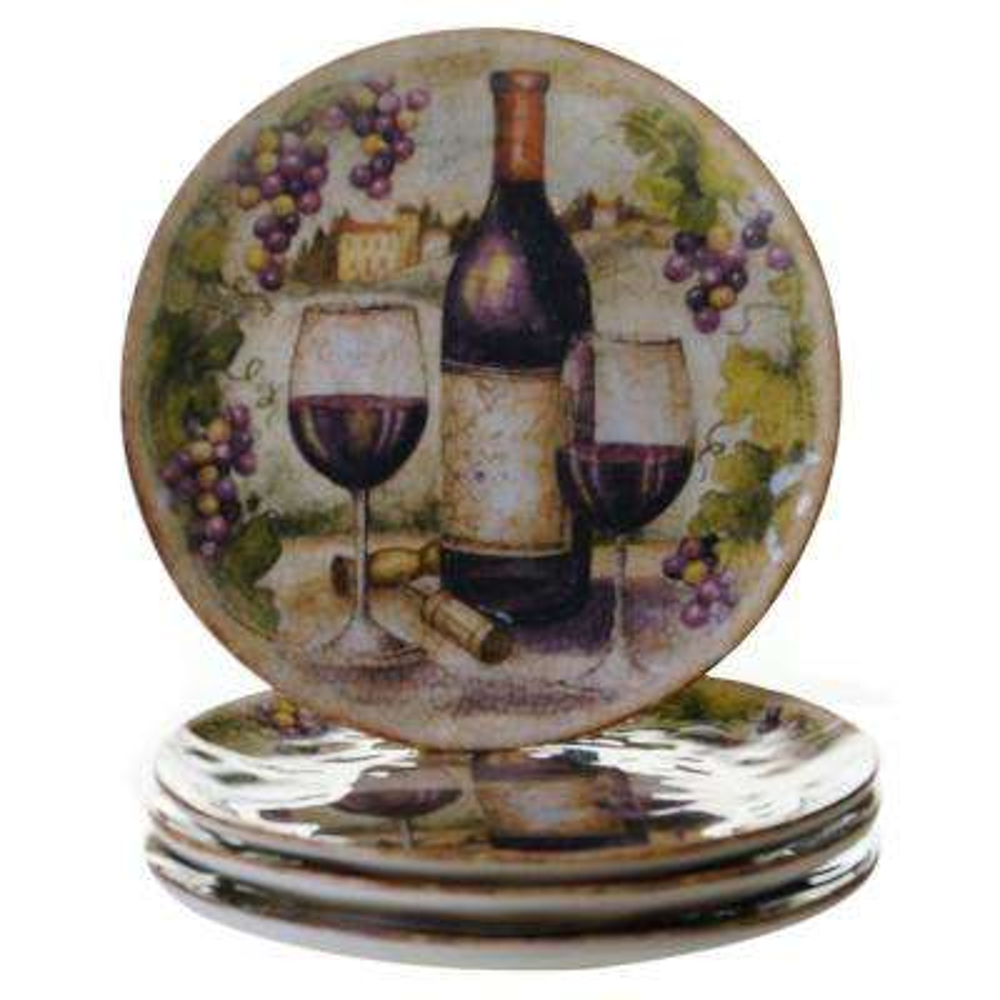 Sanctuary Wine Salad and Dessert Plate (Set of 4)