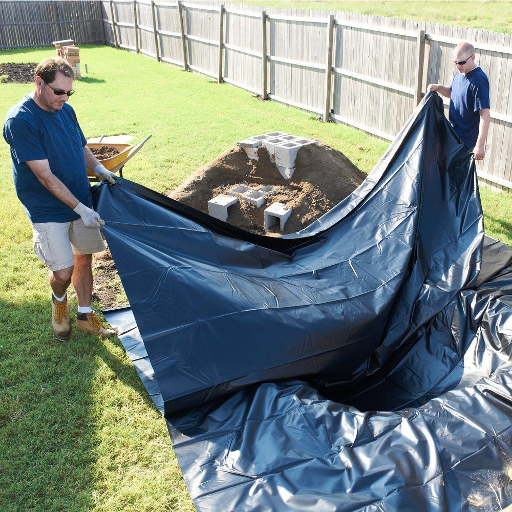 TotalPond pond skins Pond Liner 7 by 10-Feet
