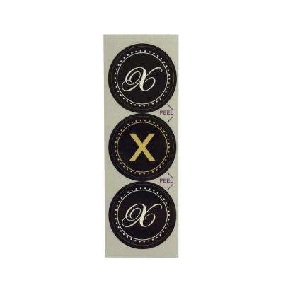 X Monogram Decorative Bathroom Sink Stopper Laminates (Set of 3)