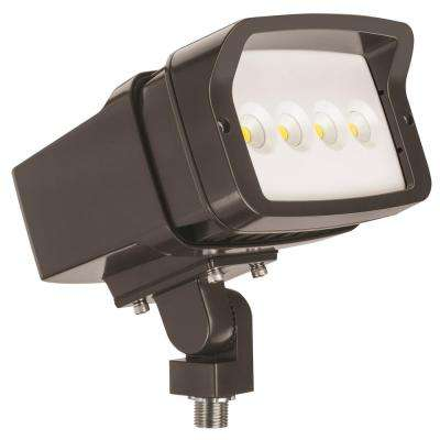 OFL1 LED Bronze Outdoor Integrated LED 5000K Knuckle Mount Landscape Flood Light