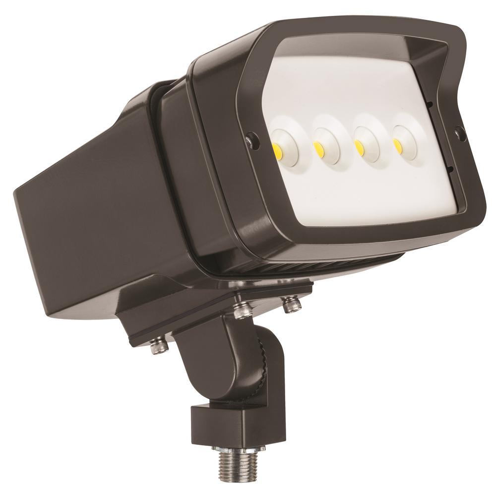 OFL1 LED Bronze Outdoor Integrated LED 5000K Knuckle Mount Landscape Flood Light
