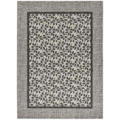 Country Side Ivory Charcoal 10 Ft X 13 Indoor Outdoor Area