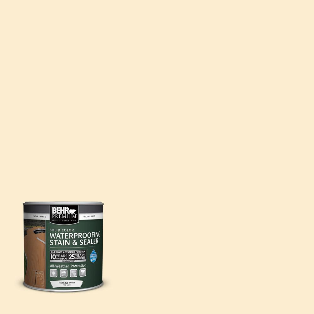 Behr Premium 8 Oz Sc 157 Navajo White Solid Color Waterproofing Exterior Wood