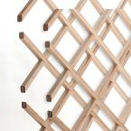 28-Bottle Trimmable Wine Rack Lattice Panel Inserts in Unfinished Solid North American Hard Maple