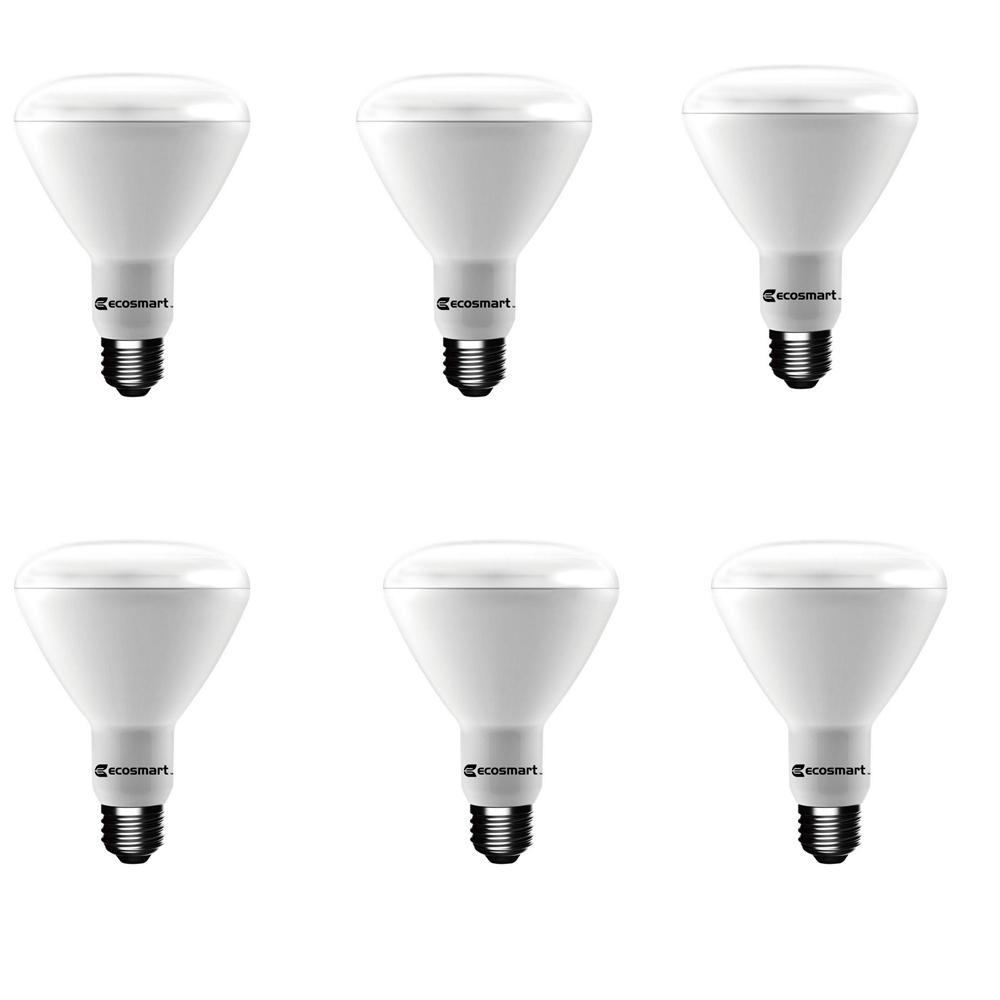 65-Watt Equivalent BR30 Dimmable LED Light Bulb Soft White (6-Pack)