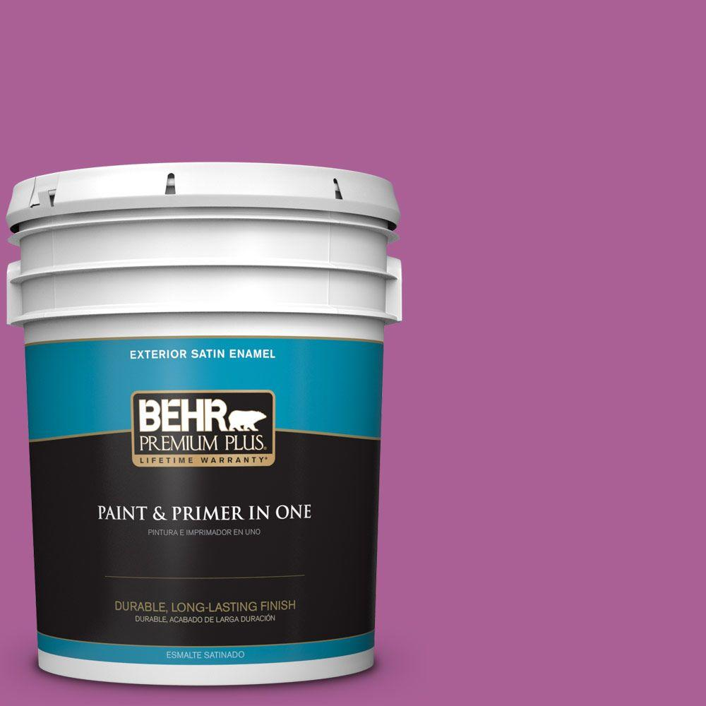 5-gal. #680B-6 Exotic Bloom Satin Enamel Exterior Paint