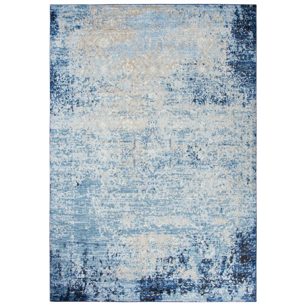 Encore Blue/Ivory 8 ft. x 10 ft. Rectangle Area Rug