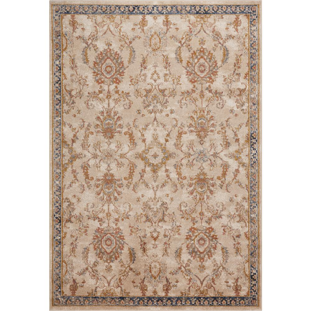 Kas Rugs Manor Ivory Morrison 3 ft. x 5 ft. Traditional Area Rug