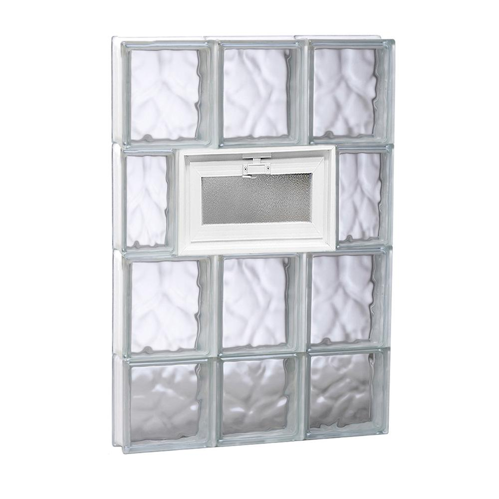 Clearly Secure 17.25 in. x 29 in. x 3.125 in. Frameless Wave Pattern ...