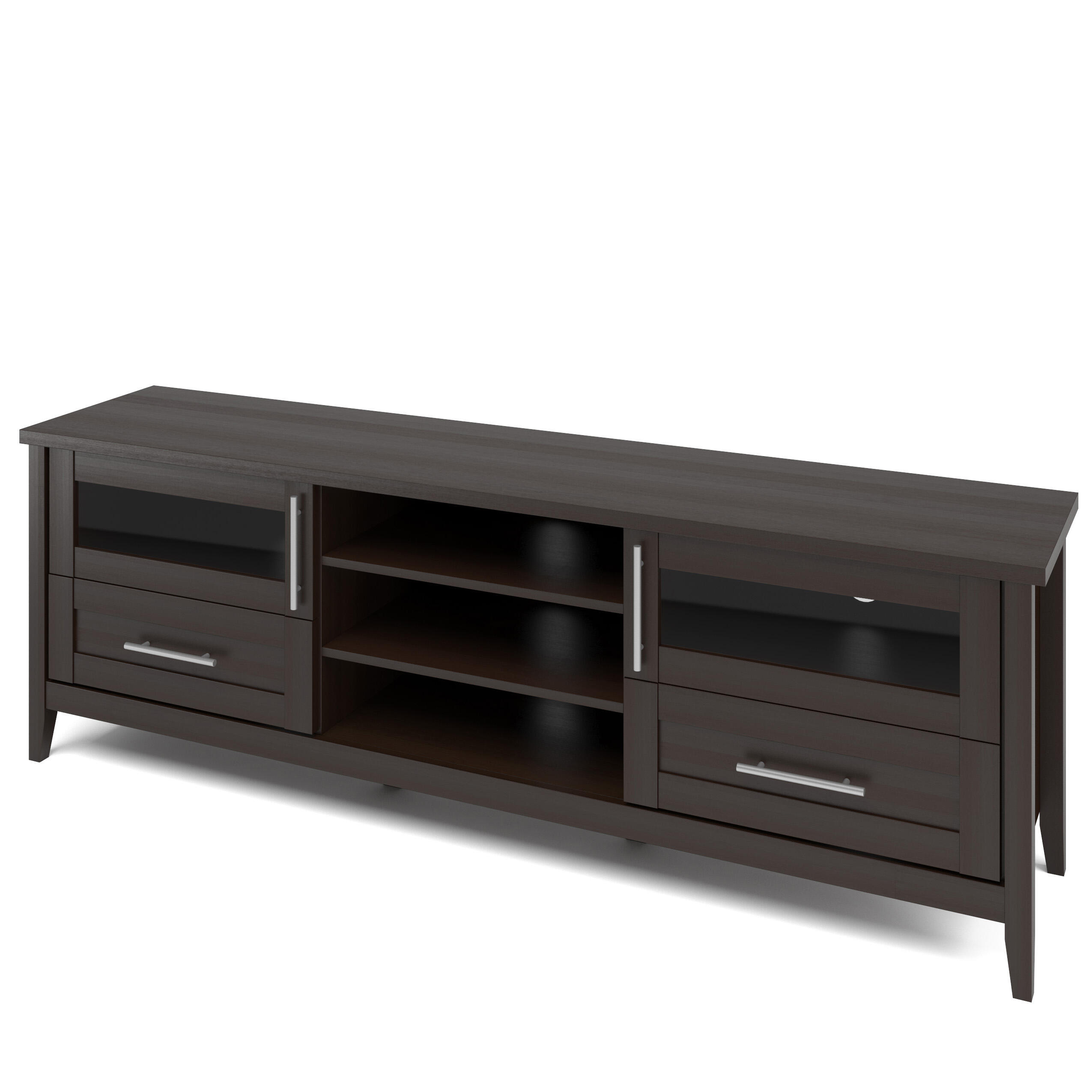 CorLiving Jackson 71 in. Dark Espresso Wood TV Stand