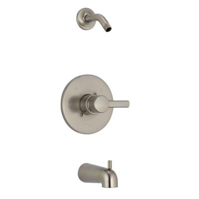 Apex 1-Handle Wall-Mount Tub and Shower Faucet Trim Kit in Brushed Nickel (Valve and Showerhead Not Included)
