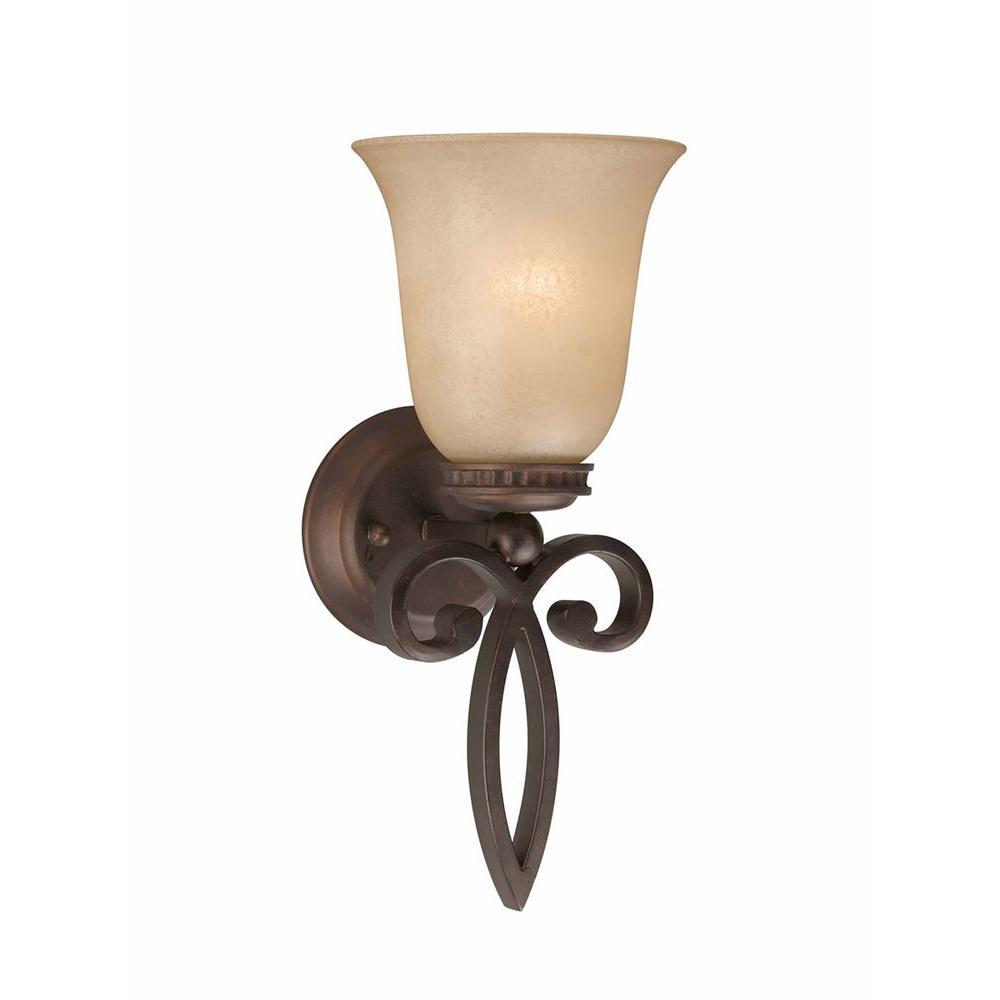 Charry 1-Light Bronze Sconce