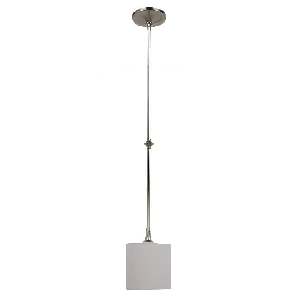 Great Sea Gull Lighting Stirling 1 Light Brushed Nickel Mini Pendant