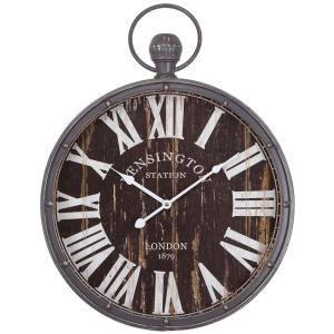 Yosemite Home Decor 18 In. Pendant Iron Wall Clock And MDF Back  Plate CLKA1384   The Home Depot
