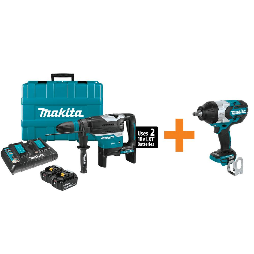 18-Volr X2 LXT (36-Volt) Cordless 1-9/16 in. Rotary Hammer Kit SDS-MAX