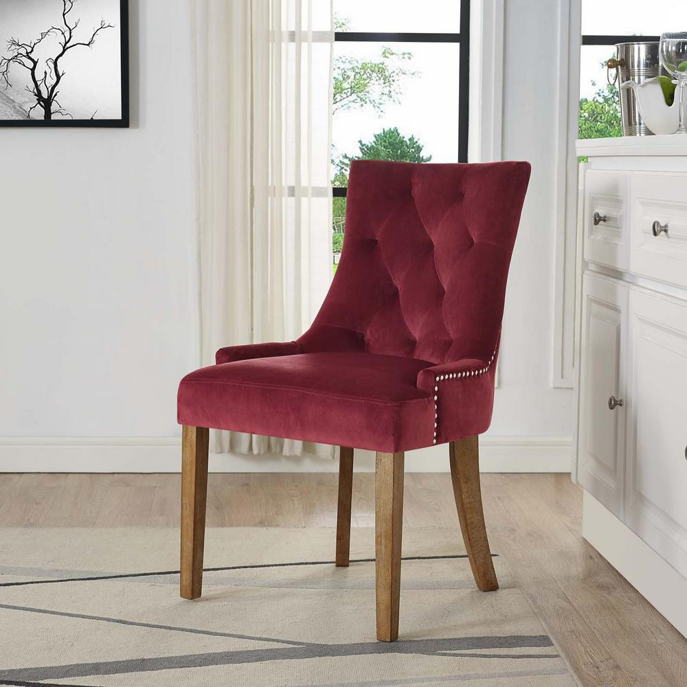 Modway Pose Maroon Upholstered Fabric Dining Chair Eei 2577 Mar The Home Depot