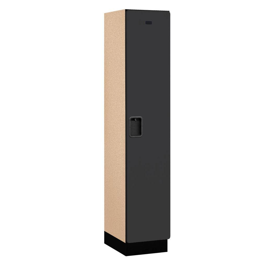 21000 Series 1-Tier Wood Extra Wide Designer Locker in Black -