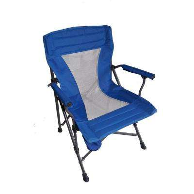 36 in. H Portable Folding Blue Chair