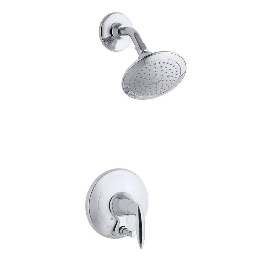 Alteo 1-Handle Shower Faucet Trim with Diverter Button in Polished Chrome