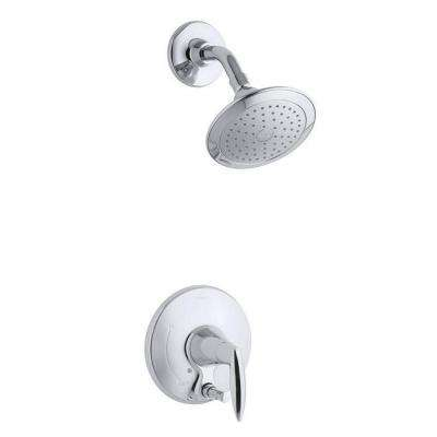 Alteo 1-Handle Shower Faucet Trim with Diverter Button in Polished Chrome (Valve Not Included)
