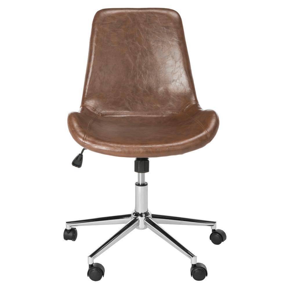 Fletcher Brown/Chrome Swivel Office Chair