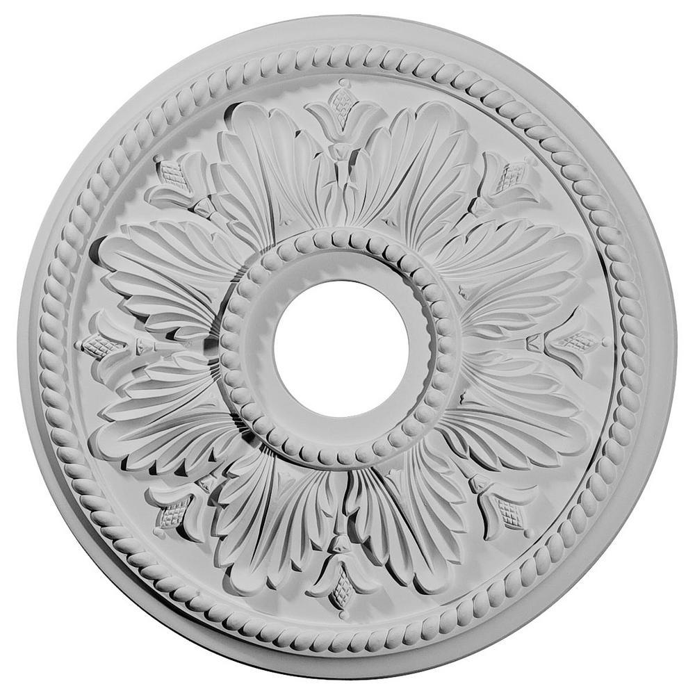 Ekena Millwork 2-3/4 in. x 18-1/8 in. x 18-1/8 in. Polyurethane Edinburgh Ceiling Medallion Moulding