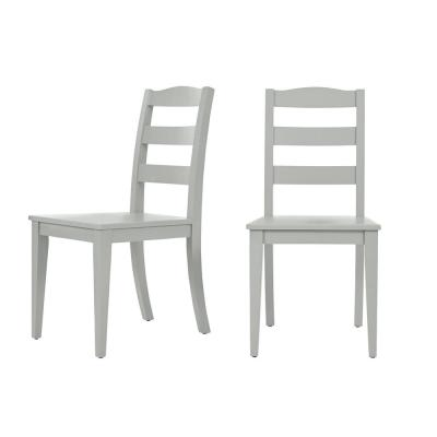 StyleWell Moss Green Wood Dining Chair with Ladder Back (Set of 2) (17.72 in. W x 36.77 in. H)