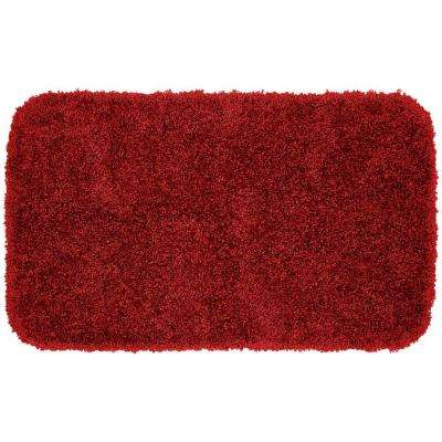 Serendipity Chili Pepper Red 24 in. x 40 in. Washable Bathroom Accent Rug