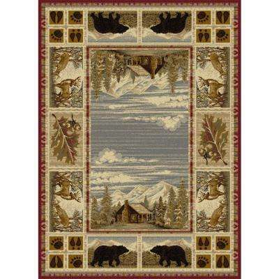 Lodge Red 5 ft. 3 in. x 7 ft. 3 in. Area Rug