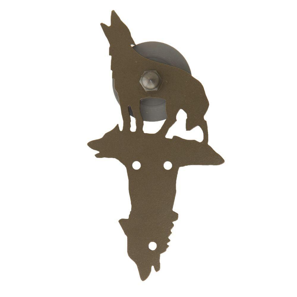 Quiet Glide 8-5/8 in. x 4-7/8 in. Kaminski Wolf Oil Rubbed Bronze Roller Strap