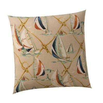 Regatta Square Outdoor Throw Pillow