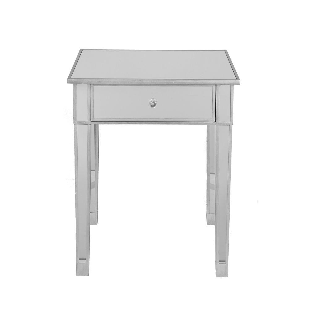 Home Decorators Collection Mirage Accent Table in Mirrored