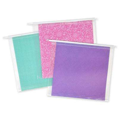12 in. x 12 in. Hanging File Folders, 3 Pack, Clear