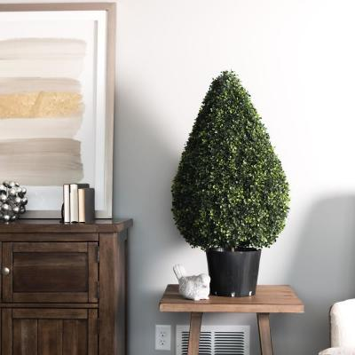 36 in. Boxwood Teardrop Shaped in Pot (UV)