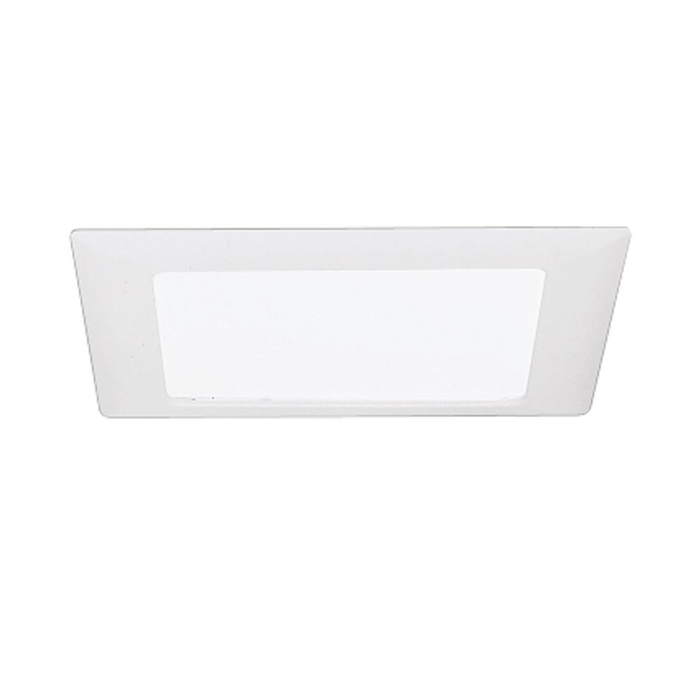 White Recessed Ceiling Light Square Trim with Glass Albalite Lens  sc 1 st  The Home Depot & Halo 9.38 in. White Recessed Ceiling Light Square Trim with Glass ... azcodes.com