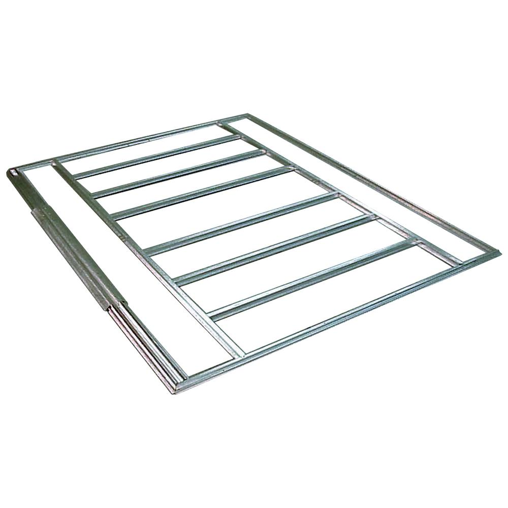 Arrow 6-10 foot W x 4 foot D HDG Galvanized Steel Shed Floor Frame Kit for Euro-Lite Pent Sheds (Floor Material Not Included)
