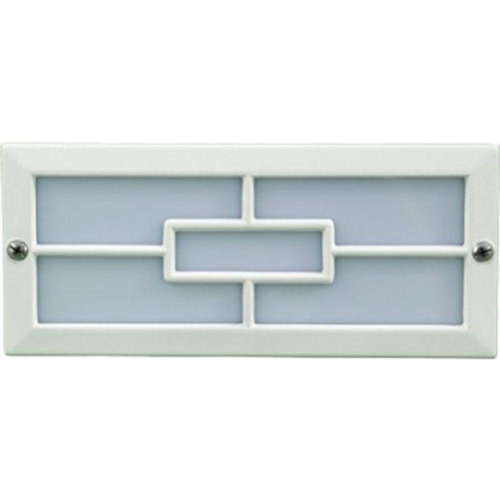 Ashler 36-Light White Outdoor LED Recessed Step Light