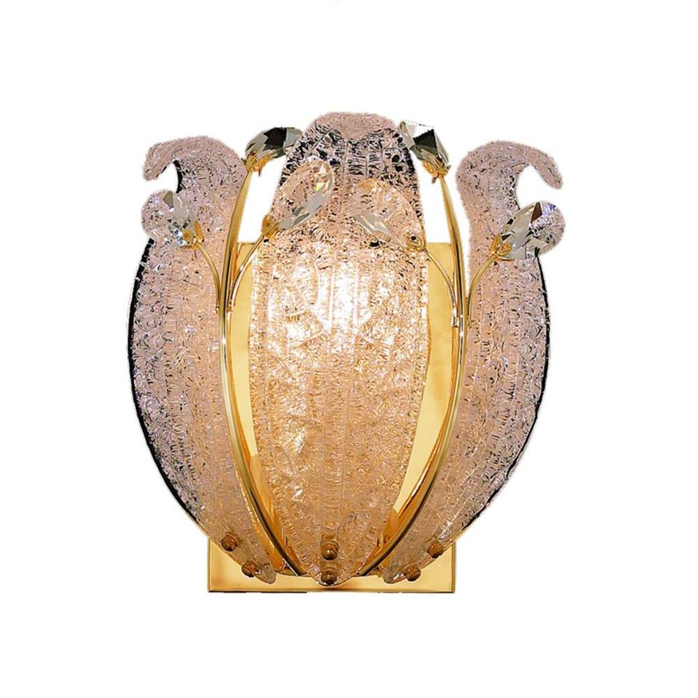Elegant Lighting 1 Light Wall Sconce Gold Finish, Clear Crystal -DISCONTINUED