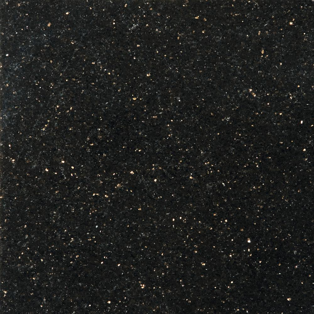 emser granite galaxy black polished in x in granite floor and wall tile 823517. Black Bedroom Furniture Sets. Home Design Ideas