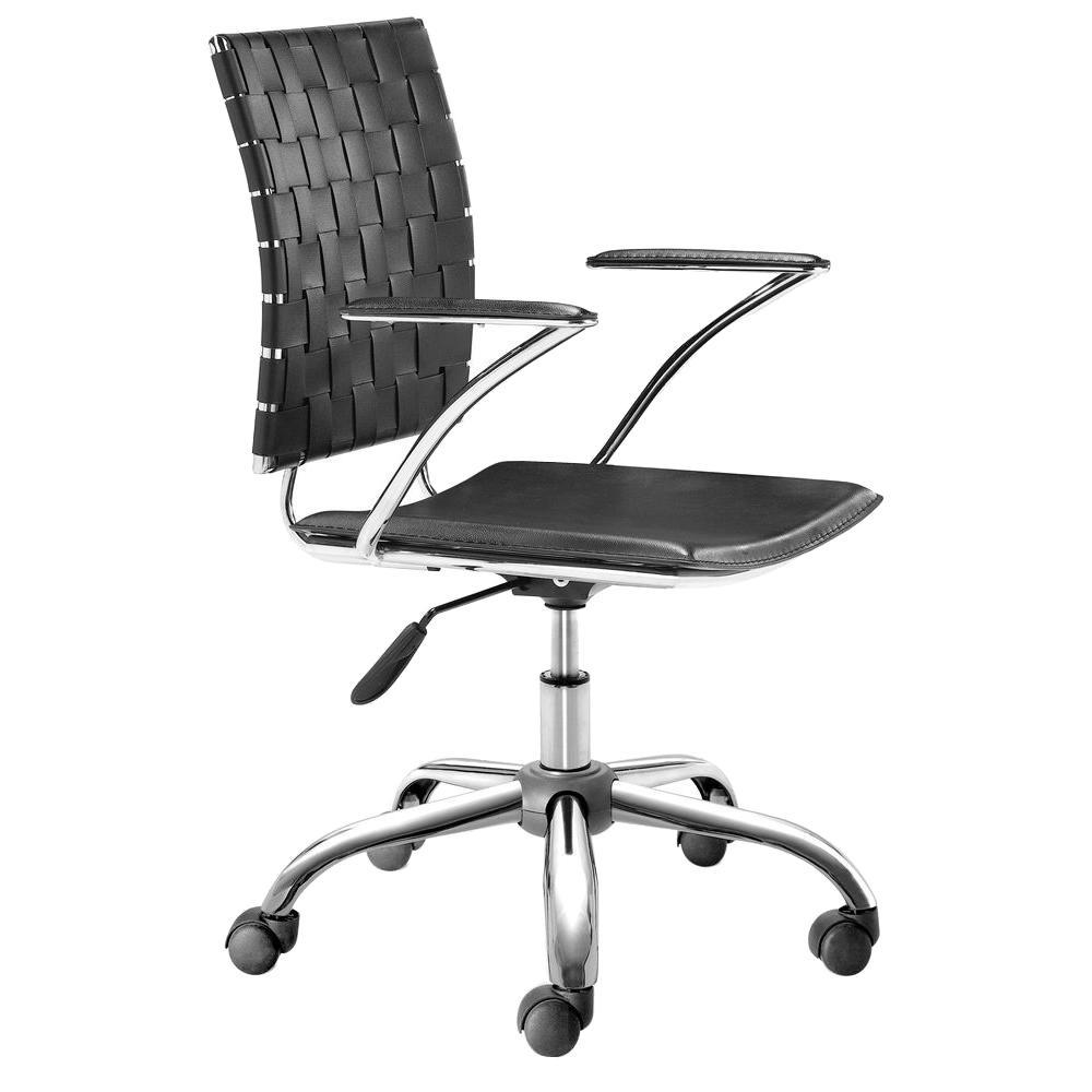 ZUO Criss Cross Black Office Chair-205030 - The Home Depot