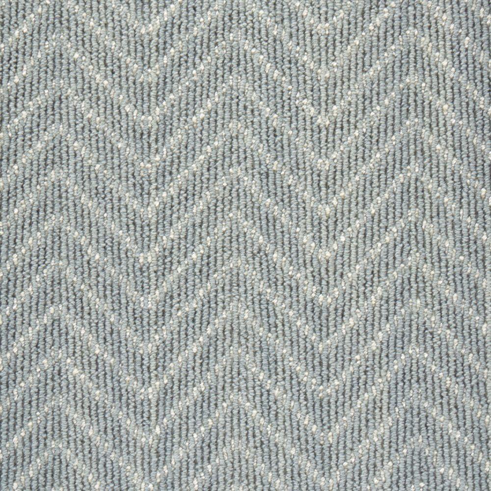 Merino Herringbone - Color Slate Loop 12 ft. Carpet